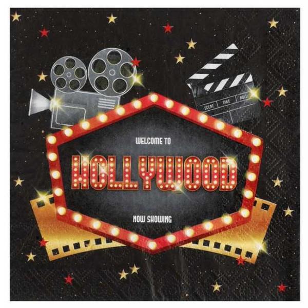 20 Serviettes en papier cinéma Hollywood - Photo n°1