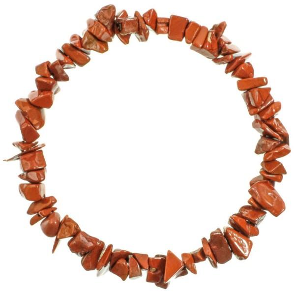 Bracelet en jaspe rouge - perles baroques. - Photo n°2