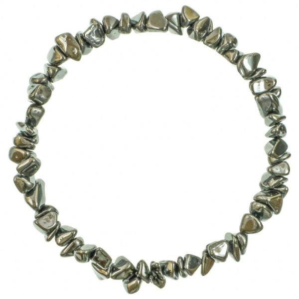 Bracelet en hématite - perles baroques. - Photo n°2