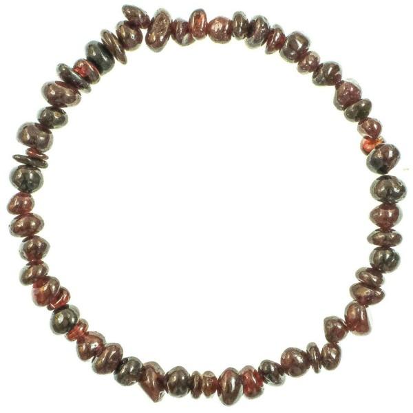 Bracelet en grenat - perles baroques. - Photo n°2