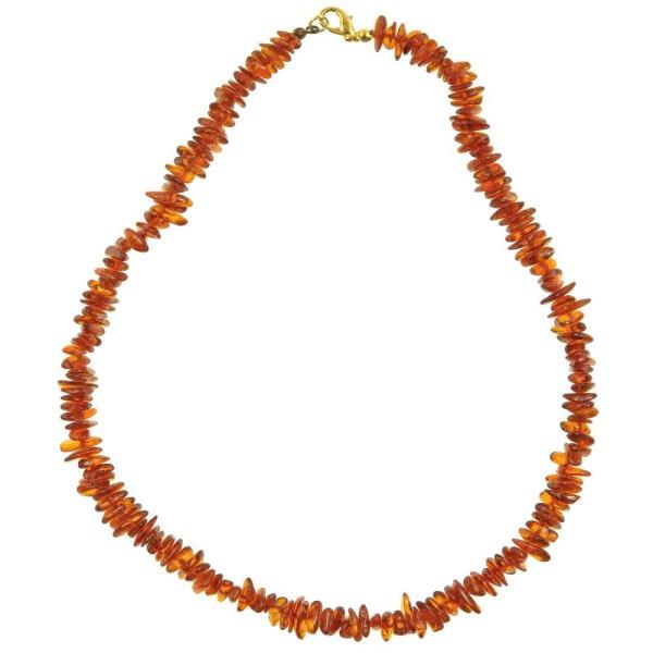 Collier d'ambre - perles baroques. - Photo n°2