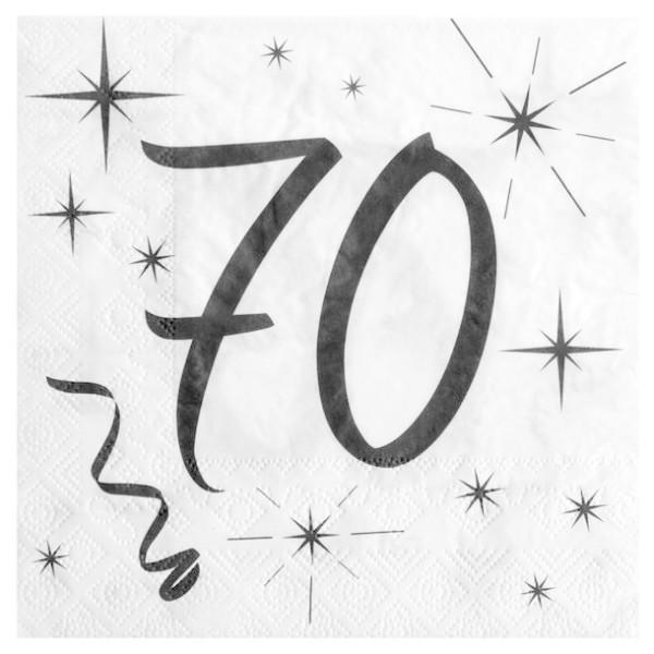 100 Serviettes en papier Anniversaire 70 ans - Photo n°1