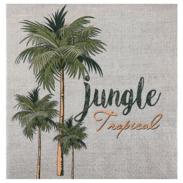 20 Serviettes en papier Jungle Tropicale - Photo n°1