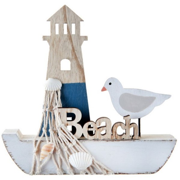 Décor bateau de pêche en bois - Photo n°1
