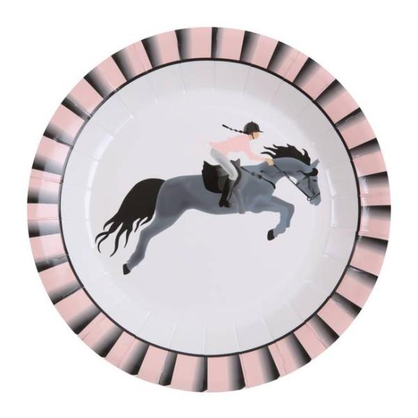 10 Assiettes en carton anniversaire Equitation fille - Photo n°1