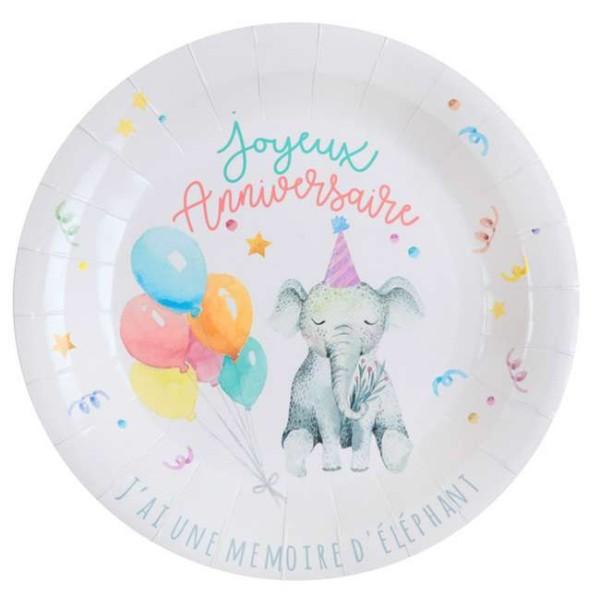 10 Assiettes en carton anniversaire Zoo party - Photo n°1
