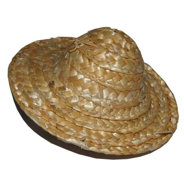 25 Minis chapeaux de paille D. 8 cm - Photo n°1