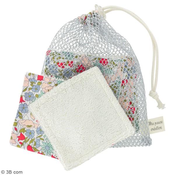 Kit couture - Lingettes lavables et filet - Tissus Liberty - 7 pcs - Photo n°2