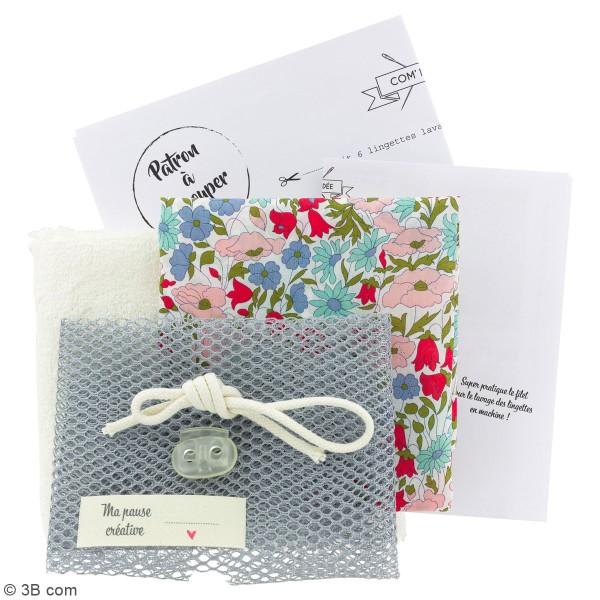 Kit couture - Lingettes lavables et filet - Tissus Liberty - 7 pcs - Photo n°3