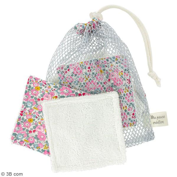 Kit couture - Lingettes lavables et filet - Tissu liberty - 7 pcs - Photo n°2