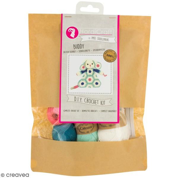 Kit crochet - Attache tétine Lapin - 22 cm - Photo n°1