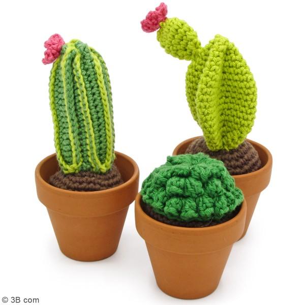 Kit crochet - Cactus - Entre 7 et 13 cm - 3 Pcs - Photo n°2