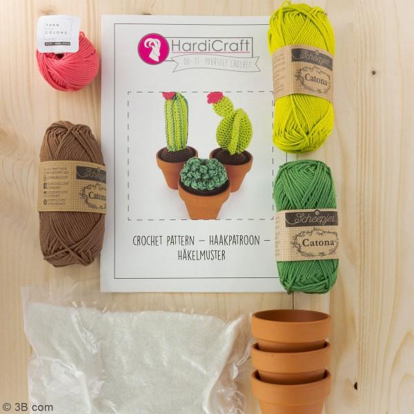 Kit crochet - Cactus - Entre 7 et 13 cm - 3 Pcs - Photo n°3