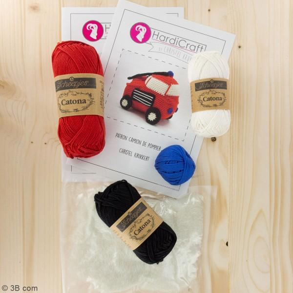 Kit crochet - Camion de Pompier - 16 cm - Photo n°3