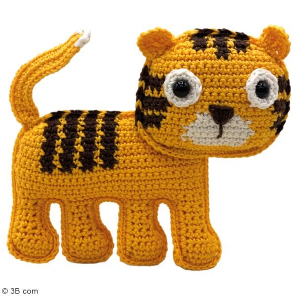 Kit crochet - Oscar le Tigre - 14 cm - Photo n°2