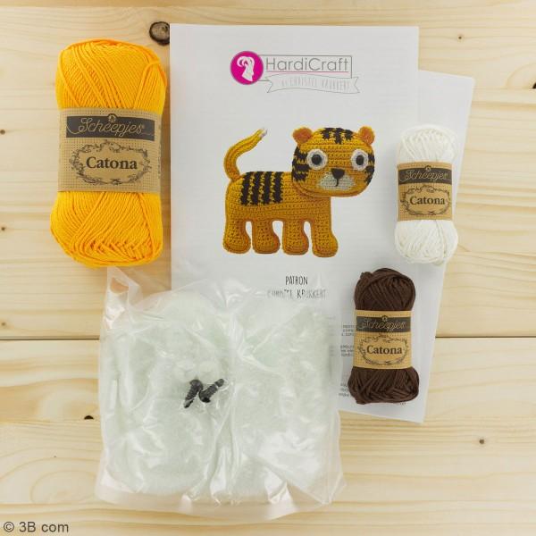 Kit crochet - Oscar le Tigre - 14 cm - Photo n°3