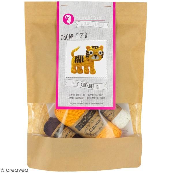 Kit crochet - Oscar le Tigre - 14 cm - Photo n°1