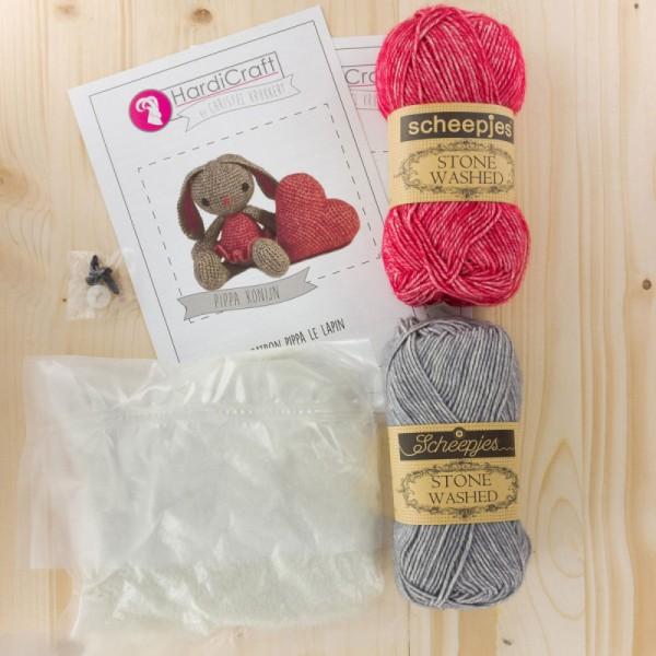 Kit crochet - Pippa la Lapine - 20 cm - Photo n°3