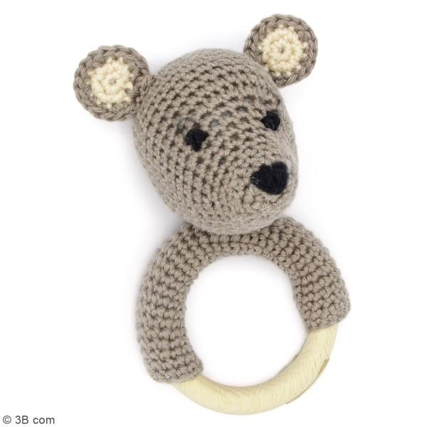 Kit crochet - Hochet Ours - 12 cm - Photo n°2