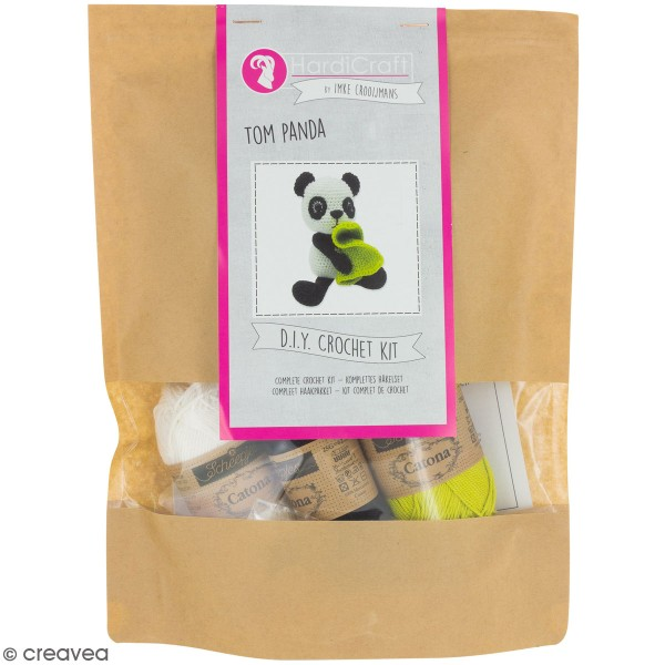 Kit crochet - Tom le Panda - 22 cm - Photo n°1
