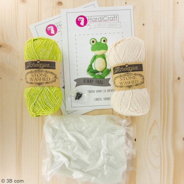 Kit crochet - Vinny la Grenouille - 30 cm - Photo n°3