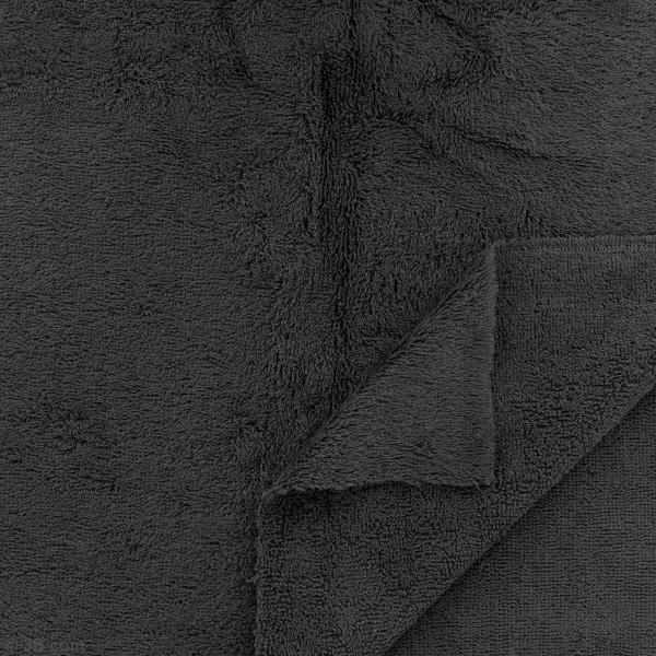 Tissu éponge de bambou - noir - Par 10 cm (sur mesure) - Photo n°2