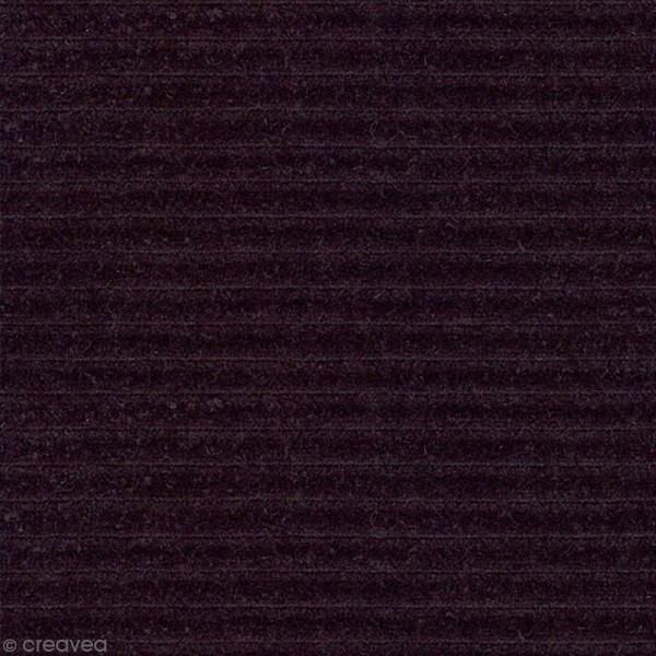 Tissu Velours Côtelé - Violet - Par 10 cm (sur mesure) - Photo n°1