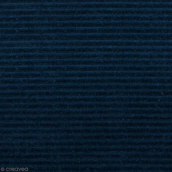 Tissu Velours Côtelé - Bleu pétrole - Par 10 cm (sur mesure) - Photo n°1