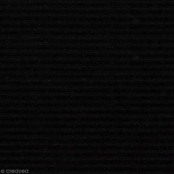 Tissu Velours Côtelé - Noir - Par 10 cm (sur mesure) - Photo n°1