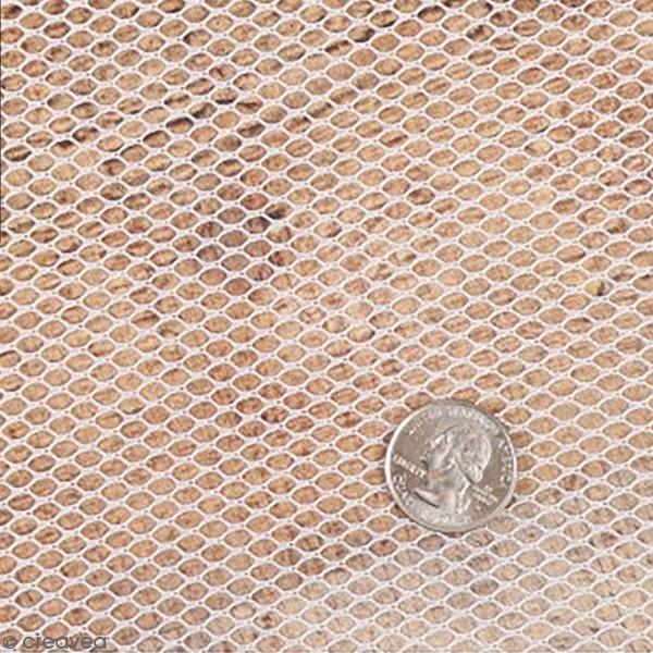 Tissus filet Mesh fabric - Blanc - Par 10 cm (sur mesure) - Photo n°1