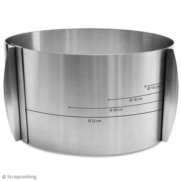 Cercle pâtissier extensible - De 15 à 23 cm de diamètre - Photo n°2