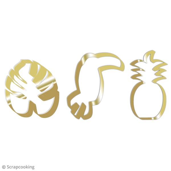 Lot de découpoirs gold tropical - 3 pcs - Photo n°2