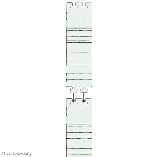 Silicone Flexi mold - 4 bandes à assembler - Photo n°6