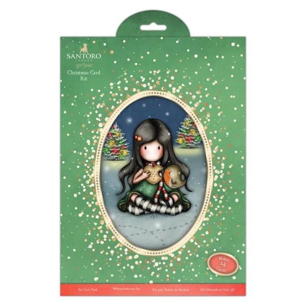 Kit cartes de voeux et enveloppes Gorjuss - My Christmas Friend - Photo n°1