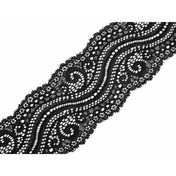 13,5 m Noir lacets Élastiques Largeur 65mm, s'Étirer, Et de Madère, Mercerie, - Photo n°1