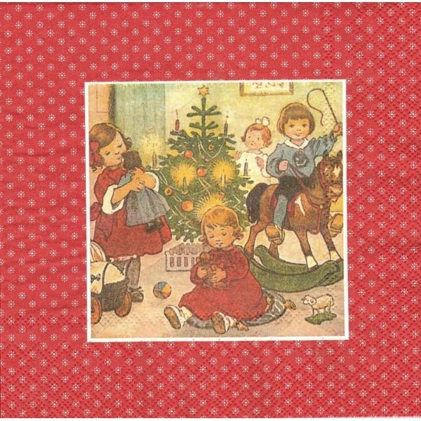 4 Serviettes en papier Image de Noël Format Lunch Decoupage Decopatch L-721810 IHR - Photo n°1