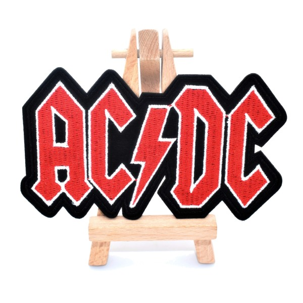 Ecusson brodé AC/DC patch thermocollant hard rock music 12 cm - Photo n°3