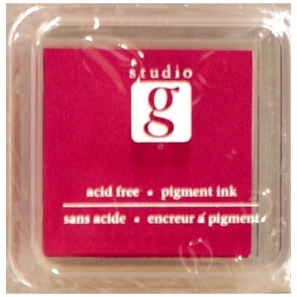 Encreur mini pad de studio G embossable Couleur - rouge - Photo n°1