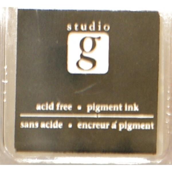 Encreur mini pad de studio G embossable Couleur - noir - Photo n°1