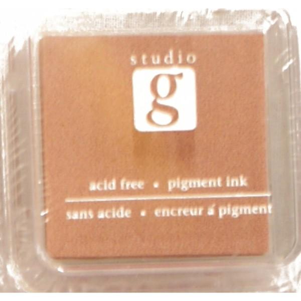 Encreur mini pad de studio G embossable Couleur - vieux rose - Photo n°1