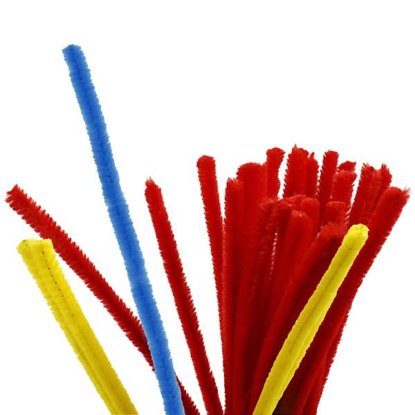 Fil chenille - Différents coloris - 9 mm x 30 cm - 25 pcs - Photo n°1