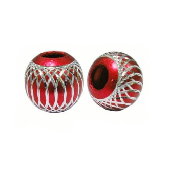 10 Perles Rondes 10mm Rouge