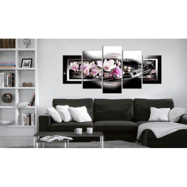 Tableau - Magnolias on a black background .Taille : 200x100 - Photo n°1