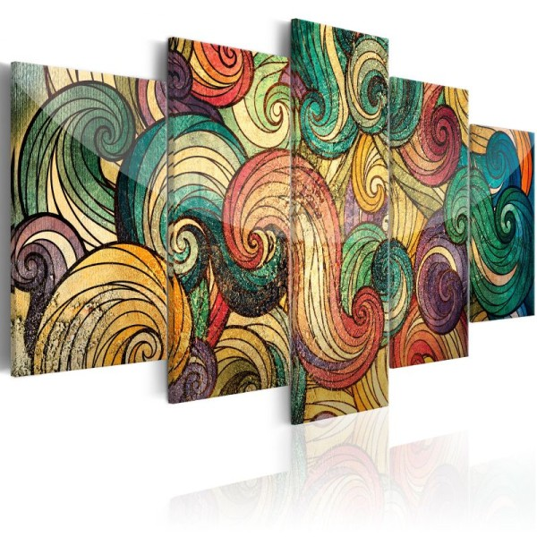 Tableau - Colourful Waves .Taille : 200x100 - Photo n°1