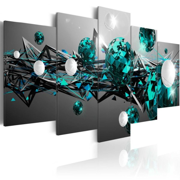 Tableau - Turquoise Solar System .Taille : 100x50 - Photo n°1