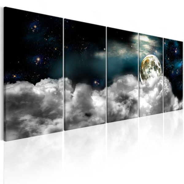 Tableau - Moon in the Clouds I .Taille : 225x90 - Photo n°1