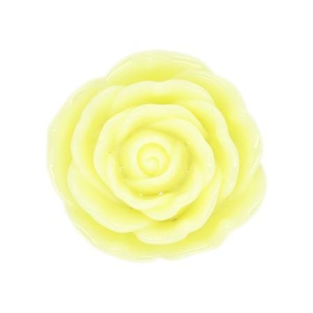 Perle Résine Fleur 45mm Jaune - Import