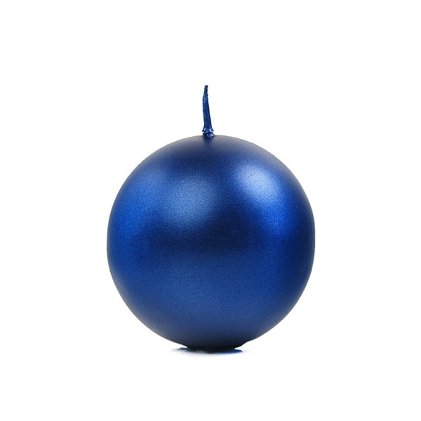 Bougie ronde bleu - Photo n°1