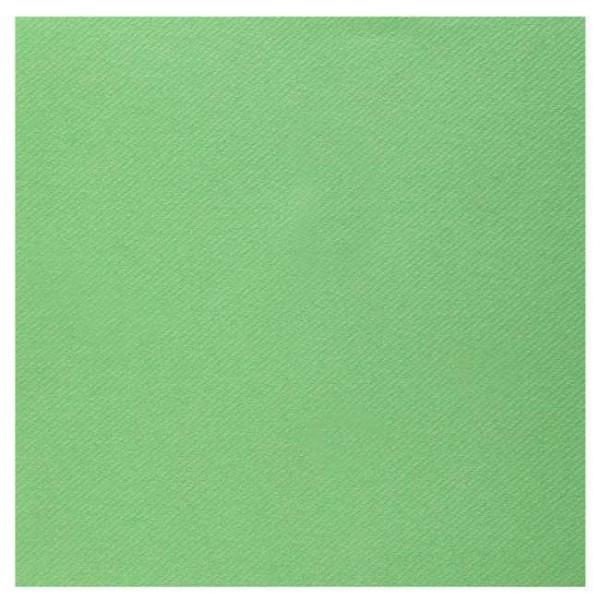 25 Serviettes 40 cm x 40 cm coloris vert pomme haut de gamme - Photo n°1