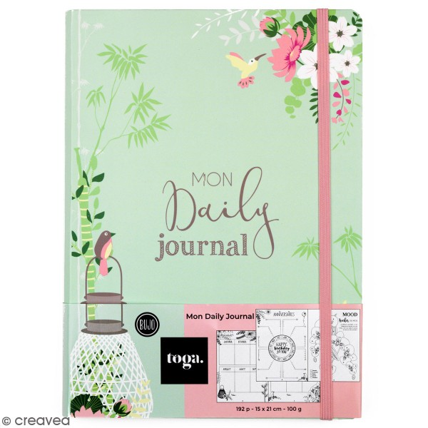 Carnet spécial Bullet Journal A5 - Mon daily Journal  - 192 pages - Photo n°1